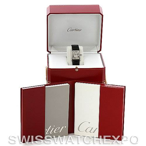 2858 Cartier Tank Louis mens 18k white gold date watch W1540956 SwissWatchExpo