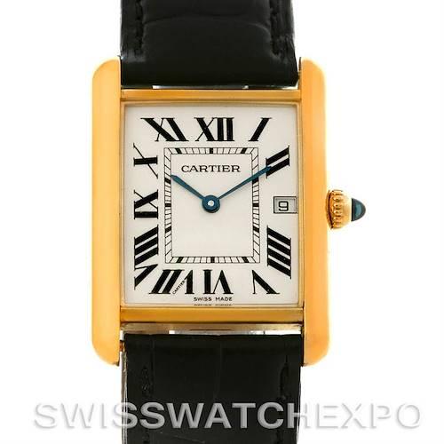 Photo of Cartier Tank Louis Mens 18k Yellow Gold Date Watch W1529756