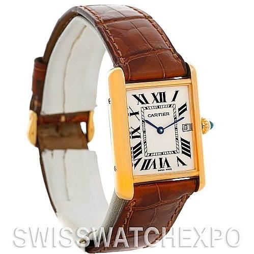 4847 Cartier Tank Louis Mens 18k Yellow Gold Watch W1529756 SwissWatchExpo