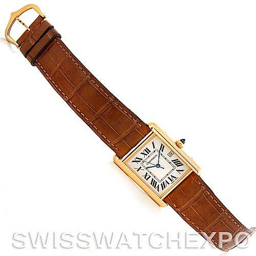 5745 Cartier Tank Louis Mens 18k Yellow Gold Watch W1529756 SwissWatchExpo