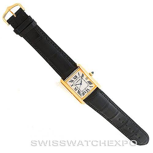 6266 Cartier Tank Louis Mens 18k Yellow Gold Watch W1529756 SwissWatchExpo