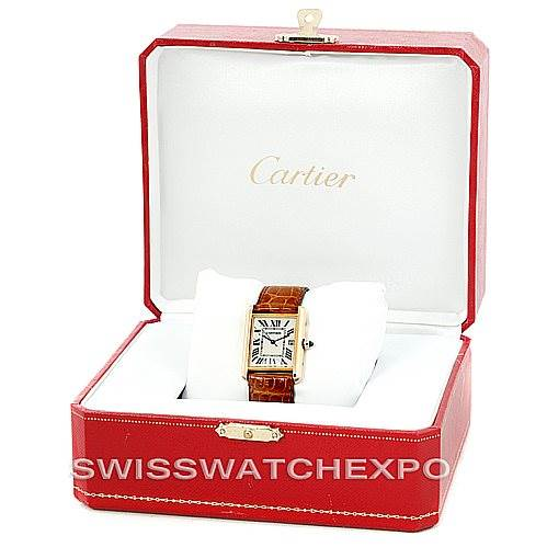 6545 Cartier Tank Louis Mens 18k Yellow Gold Watch W1529756 SwissWatchExpo