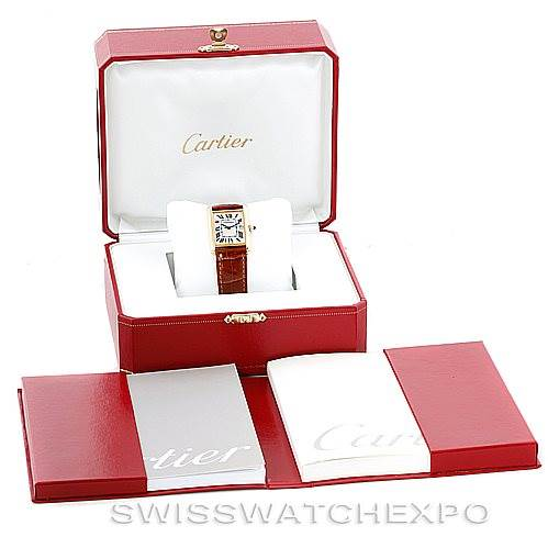 6680 Cartier Tank Louis Mens 18k Yellow Gold Watch W1529756 SwissWatchExpo