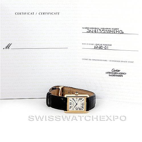 6918 Cartier Tank Louis Mens 18k Yellow Gold Watch W1529756 SwissWatchExpo