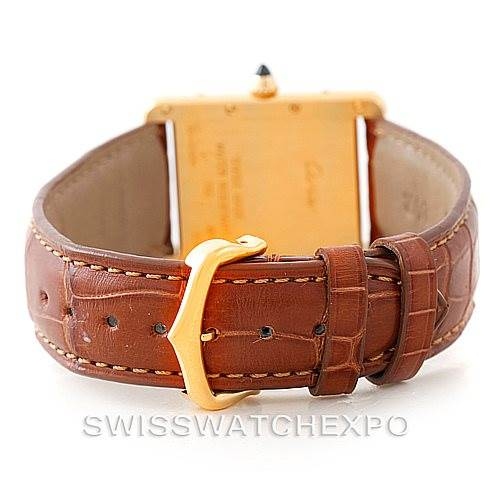 7358 Cartier Tank Louis Mens 18k Yellow Gold Watch W1529756 SwissWatchExpo