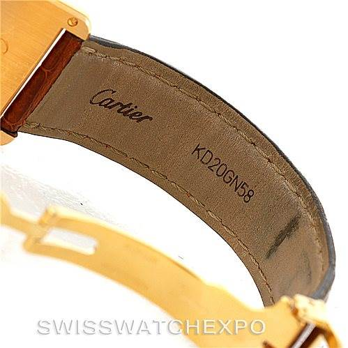 7440 Cartier Tank Louis Mens 18k Yellow Gold Watch W1529756 SwissWatchExpo