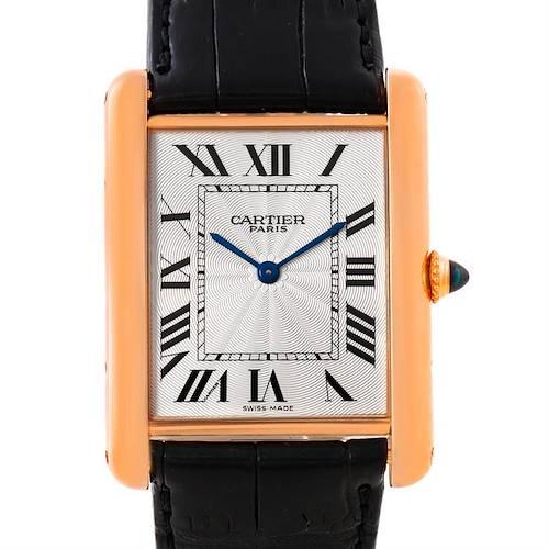 Photo of Cartier Tank Louis XL CPCP 18k Rose Gold Watch W1551451