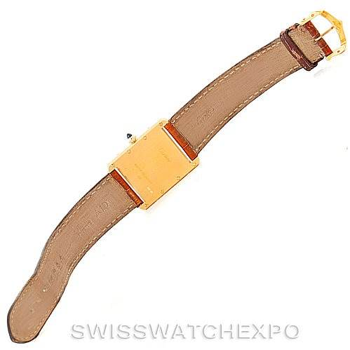 8031 Cartier Tank Louis Mens 18k Yellow Gold Watch W1529756 SwissWatchExpo