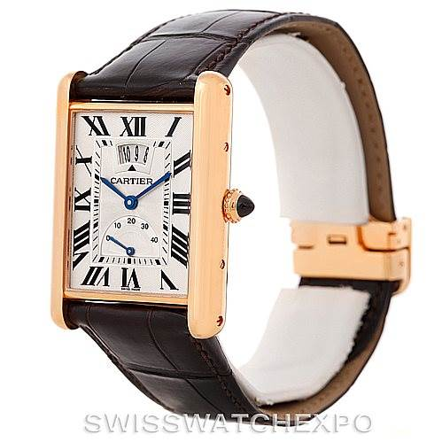 8162P Cartier Tank Louis XL Power Reserve 18k Rose Gold Watch W1560003 SwissWatchExpo