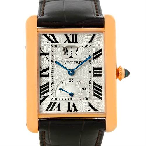 Photo of Cartier Tank Louis XL Power Reserve 18k Rose Gold Watch W1560003