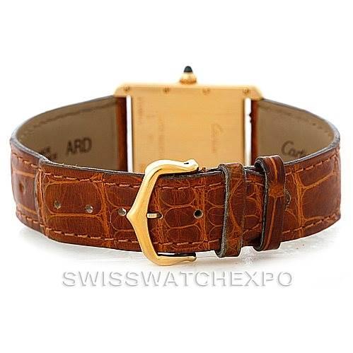 8072 Cartier Tank Louis Mens 18k Yellow Gold Watch W1529756 SwissWatchExpo