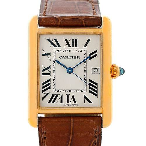 Photo of Cartier Tank Louis Mens 18k Yellow Gold Watch W1529756