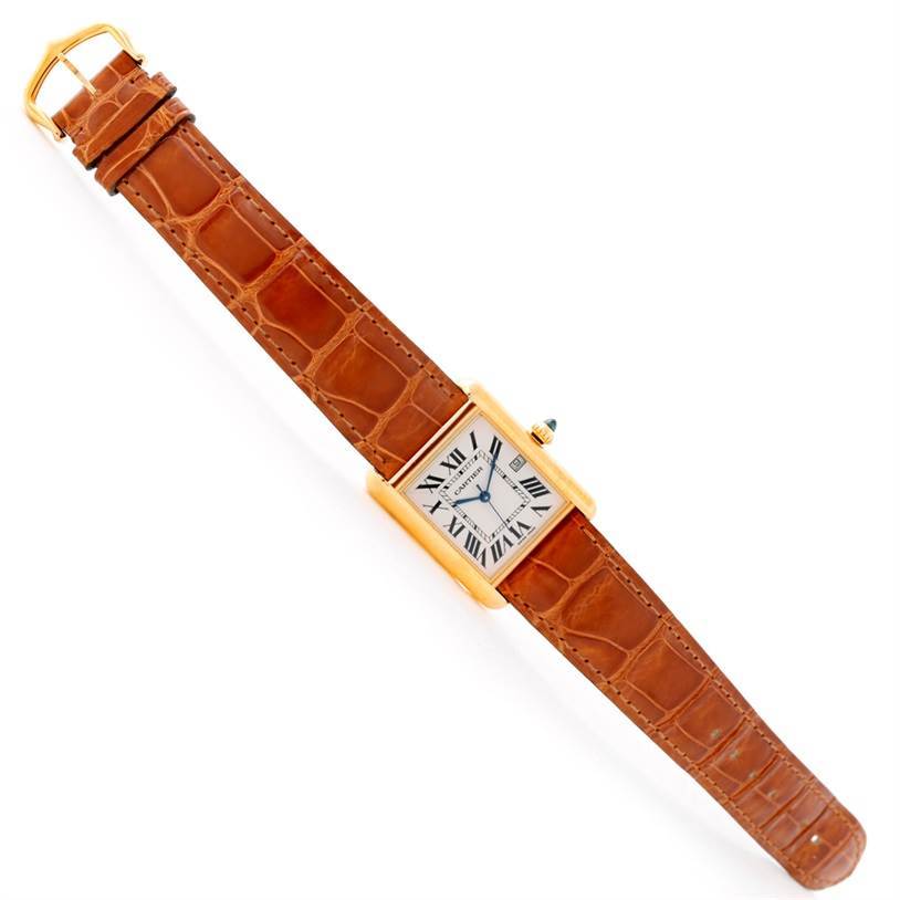 8793 Cartier Tank Louis Mens 18k Yellow Gold Watch W1529756 SwissWatchExpo
