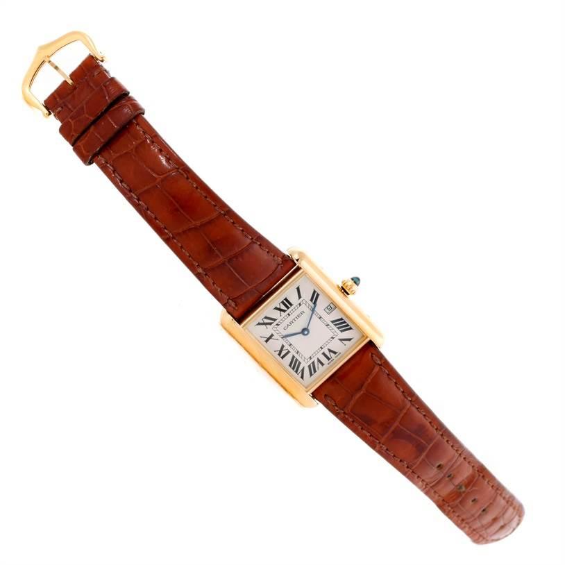 9293 Cartier Tank Louis Mens 18k Yellow Gold Watch W1529756 SwissWatchExpo