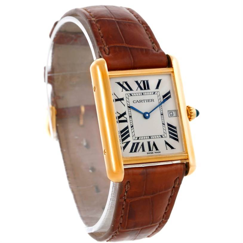 9293 Cartier Tank Louis Mens 18k Yellow Gold Watch W1529756 SwissWatchExpo