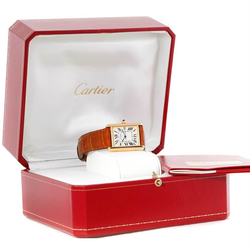9441 Cartier Tank Louis Large 18k Yellow Gold Watch W1529756 SwissWatchExpo