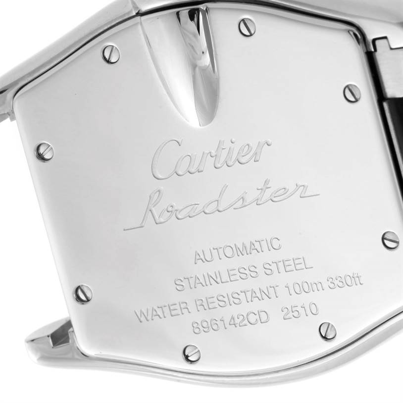 10110 Cartier Roadster Large Mens Steel Vegas Vegas Dial Watch W62002V3 SwissWatchExpo