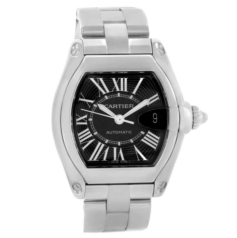 Cartier Roadster Black Dial Mens Large Automatic Watch W62041V3 SwissWatchExpo