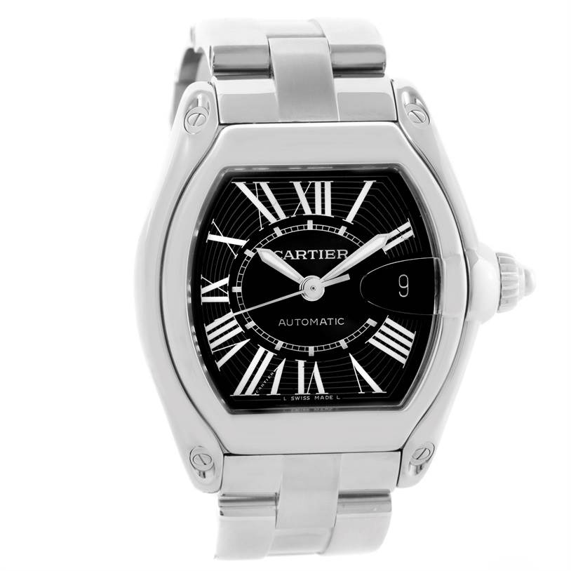 10812 Cartier Roadster Mens Large Automatic Watch W62041V3 Box Papers SwissWatchExpo