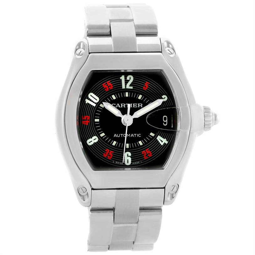 10780 Cartier Roadster Large Mens Vegas Vegas Dial Watch W62002V3 Box Papers SwissWatchExpo