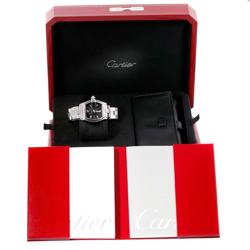 Cartier Roadster Large Mens Vegas Vegas Dial Watch W62002V3 Box Papers SwissWatchExpo