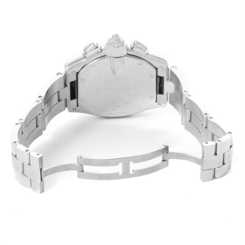 Cartier Roadster Chronograph Black Roman Dial Mens Watch W62020X6 SwissWatchExpo