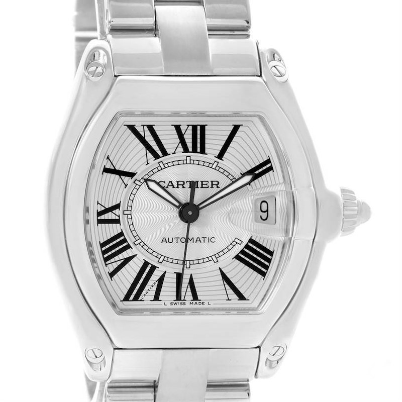 Cartier Roadster Mens Automatic Watch W62025V3 Box Papers Strap SwissWatchExpo