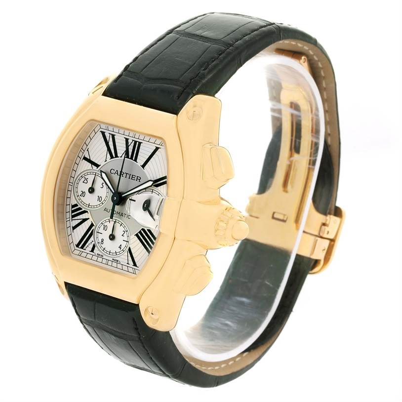 13017P Cartier Roadster Chronograph XL 18K Yellow Gold Mens Watch W62021Y2 SwissWatchExpo