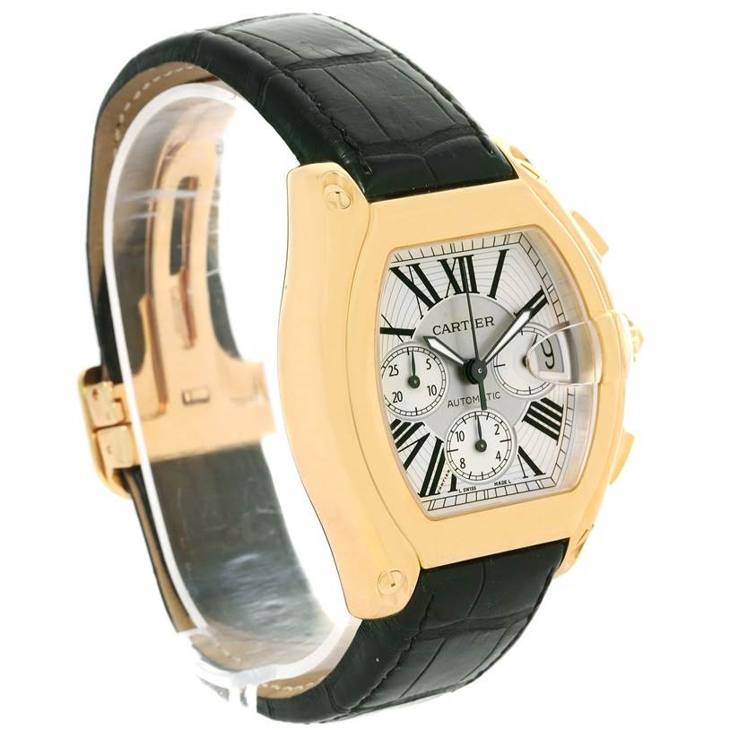 Cartier Roadster Chronograph XL 18K Yellow Gold Mens Watch W62021Y2 SwissWatchExpo