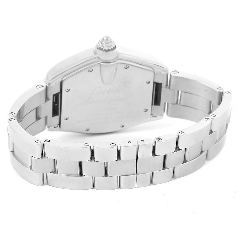 Cartier Roadster Mens Automatic Steel Silver Dial Watch W62025V3 SwissWatchExpo