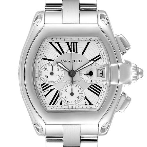 Photo of Cartier Roadster Chronograph Silver Dial Automatic Mens Watch W62019X6