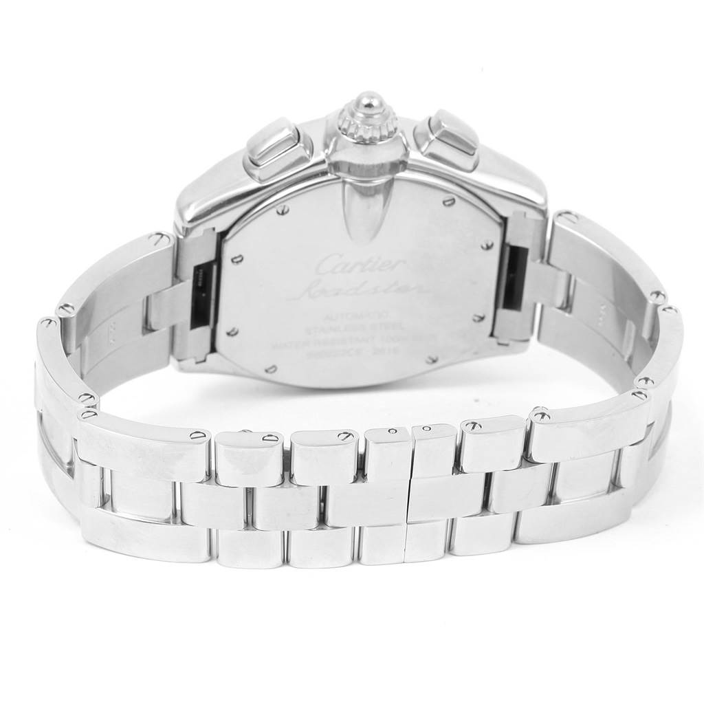 15094 Cartier Roadster Chronograph Silver Dial Automatic Mens Watch W62019X6 SwissWatchExpo