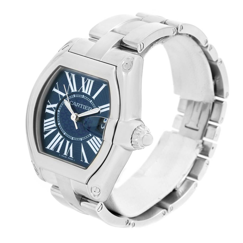15211 Cartier Roadster XL 100th Anniversary Blue Dial Mens Watch W6206012 SwissWatchExpo