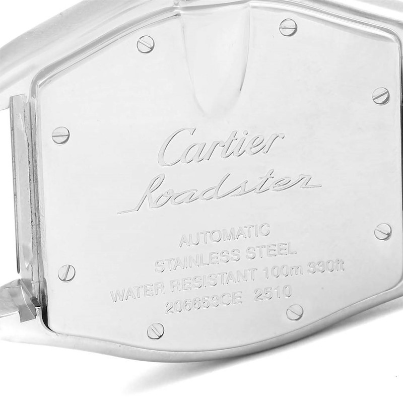 Cartier Roadster Vegas Dial Mens Watch W62002V3 Box Papers Straps SwissWatchExpo