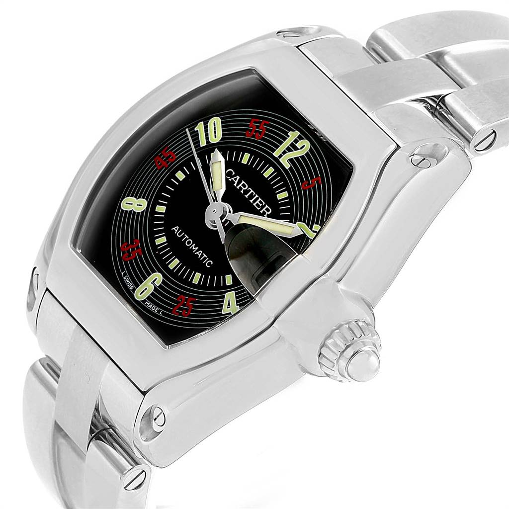 Cartier Roadster Vegas Roulette Dial Mens Watch W62002V3 Box SwissWatchExpo