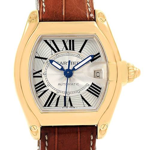 Photo of Cartier Roadster 18K Yellow Gold Large Mens Watch W62005V2 Box Papers