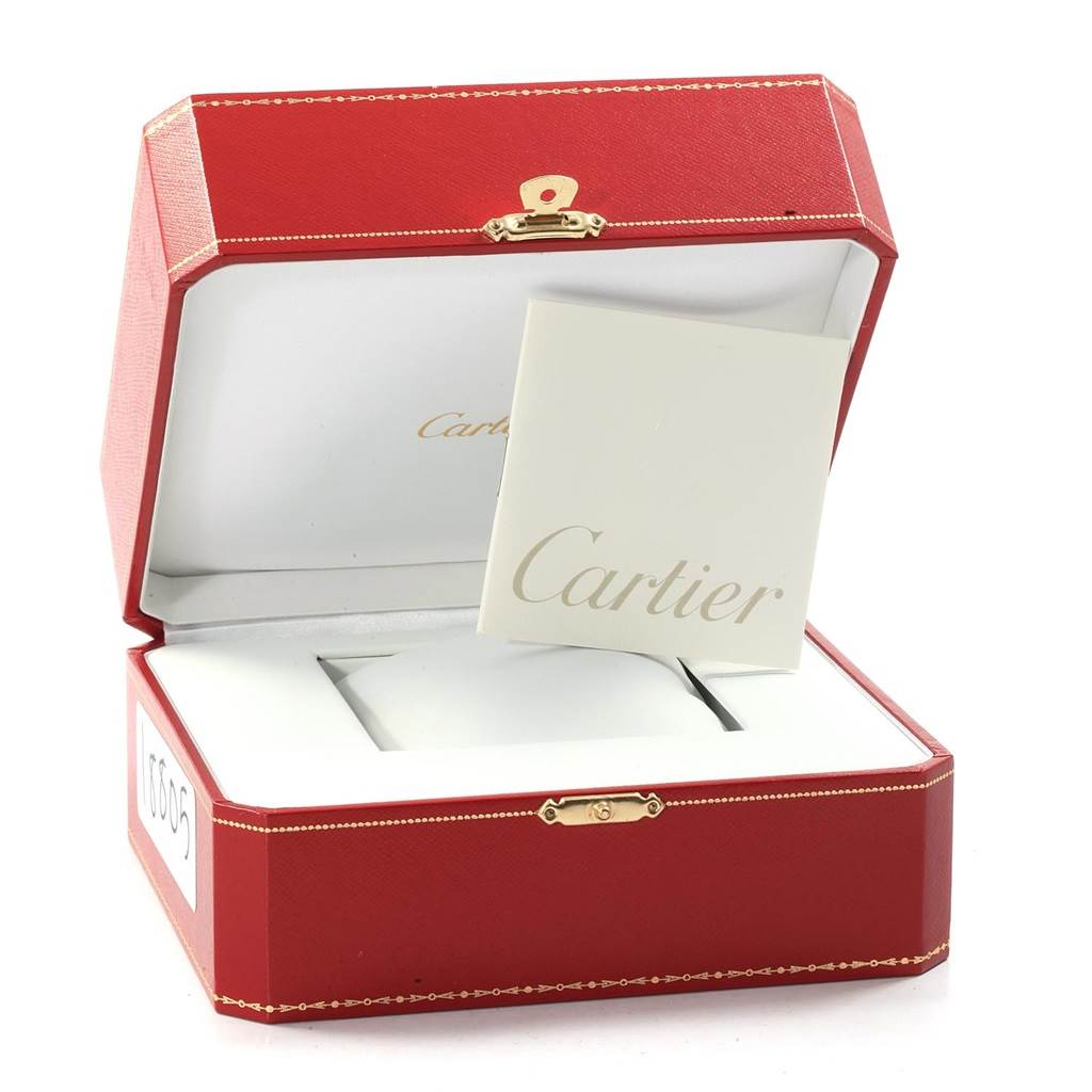 18805 Cartier Roadster Silver Dial Stainless Steel Mens Watch W62025V3 SwissWatchExpo