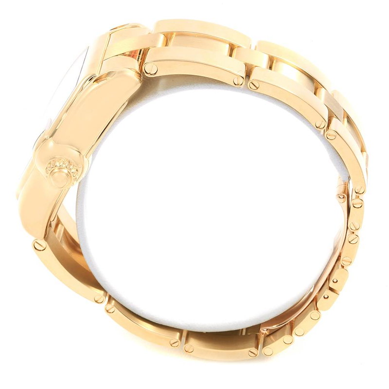 Cartier Roadster Yellow Gold Large Mens Watch W62005V1 Box Papers SwissWatchExpo