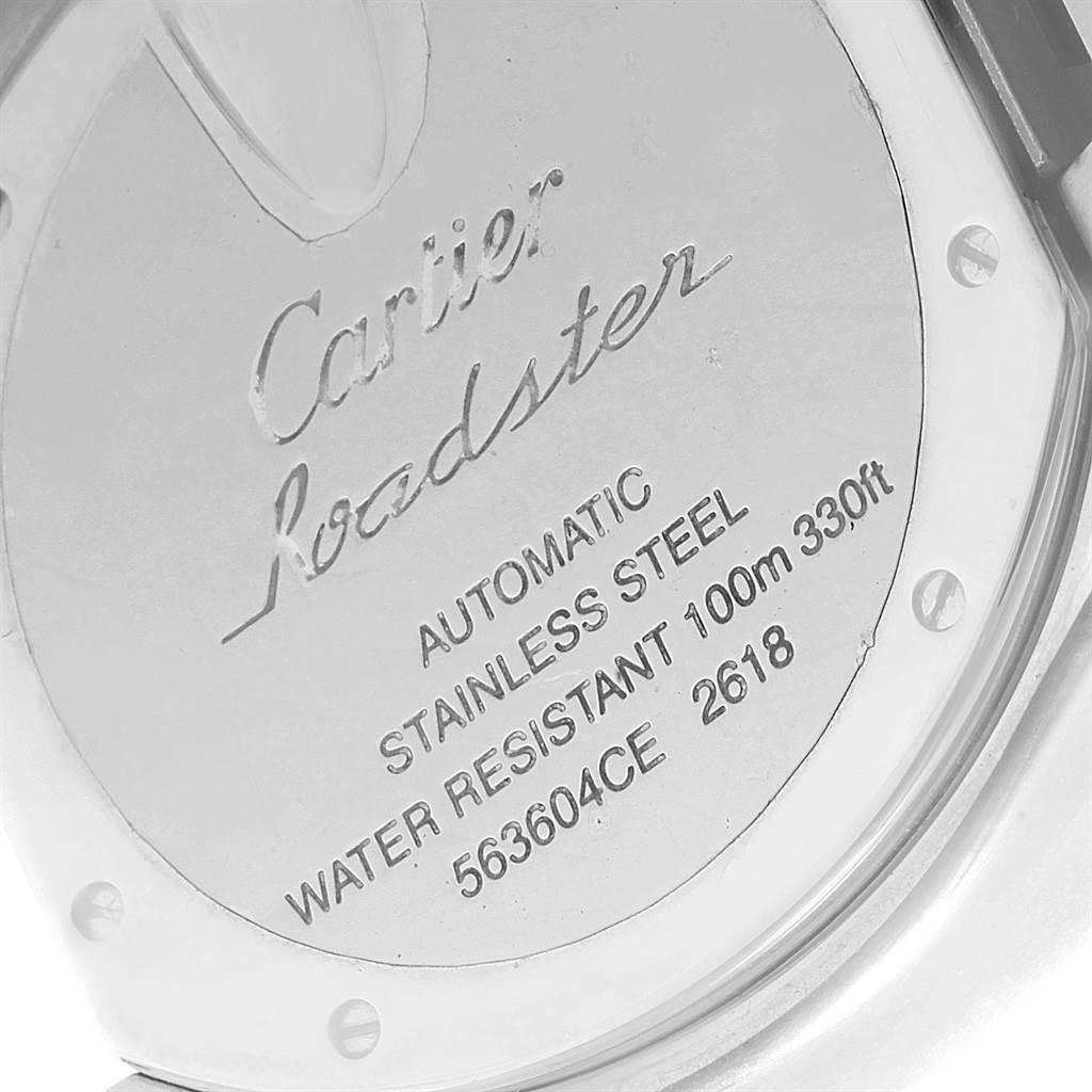 19737 Cartier Roadster XL Chrono Black Dial Automatic Mens Watch W62020X6  SwissWatchExpo