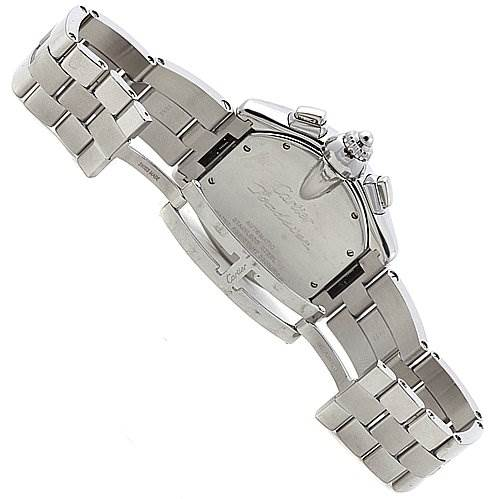 2361 Cartier Roadster Chronograph Mens Silver Dial W62019x6 SwissWatchExpo