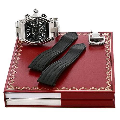 Cartier Roadster Chronograph Mens Black Dial W62020x6 SwissWatchExpo