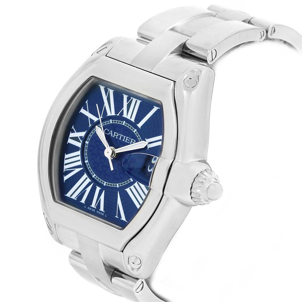 20369 Cartier Roadster XL 100th Anniversary Blue Dial Mens Watch W6206012 SwissWatchExpo