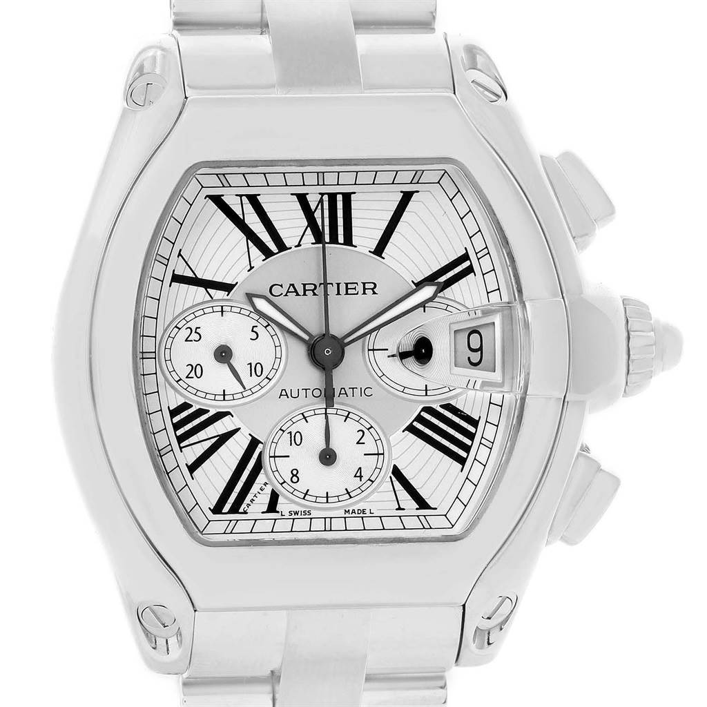 20774 Cartier Roadster XL Chronograph Automatic Mens Watch W62019X6 Box SwissWatchExpo