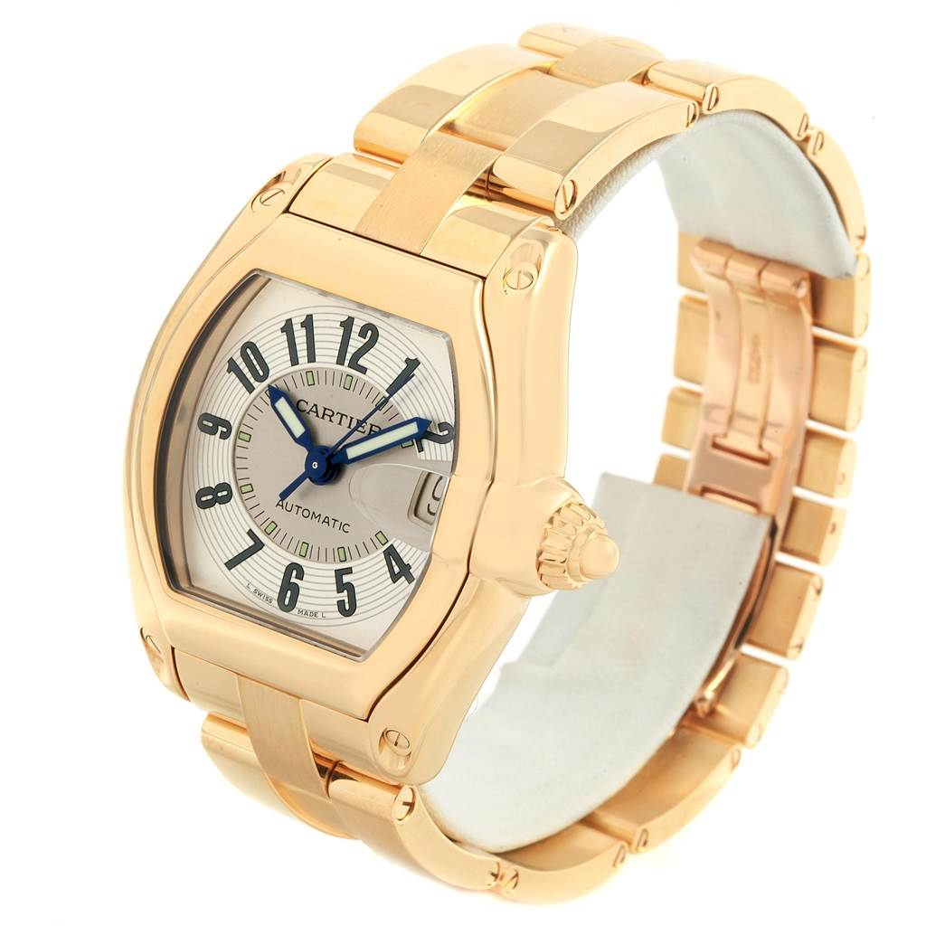 21171 Cartier Roadster 18K Yellow Gold Large Mens Watch W62005V1 SwissWatchExpo