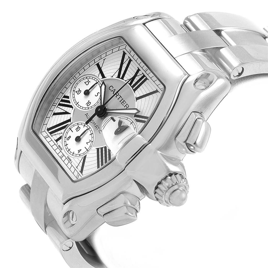 21135 Cartier Roadster XL Chronograph Automatic Mens Watch W62019X6 SwissWatchExpo