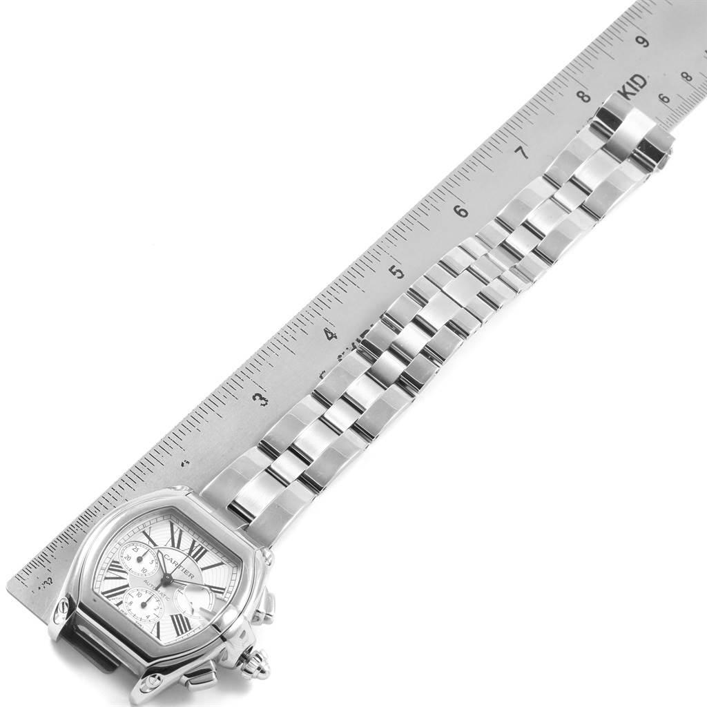 21135 Cartier Roadster XL Chronograph Automatic Mens Watch W62019X6 SwissWatchExpo
