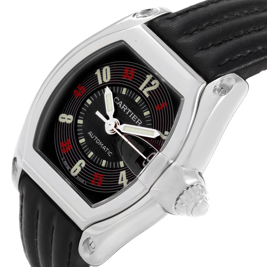 3658X Cartier Roadster Las Vegas Roulette Dial Steel Mens Watch W62002V3 SwissWatchExpo