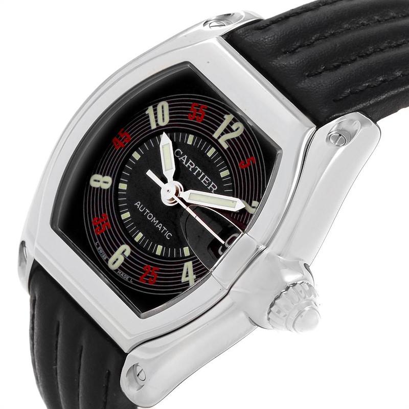 Cartier Roadster Las Vegas Roulette Dial Steel Mens Watch W62002V3 SwissWatchExpo