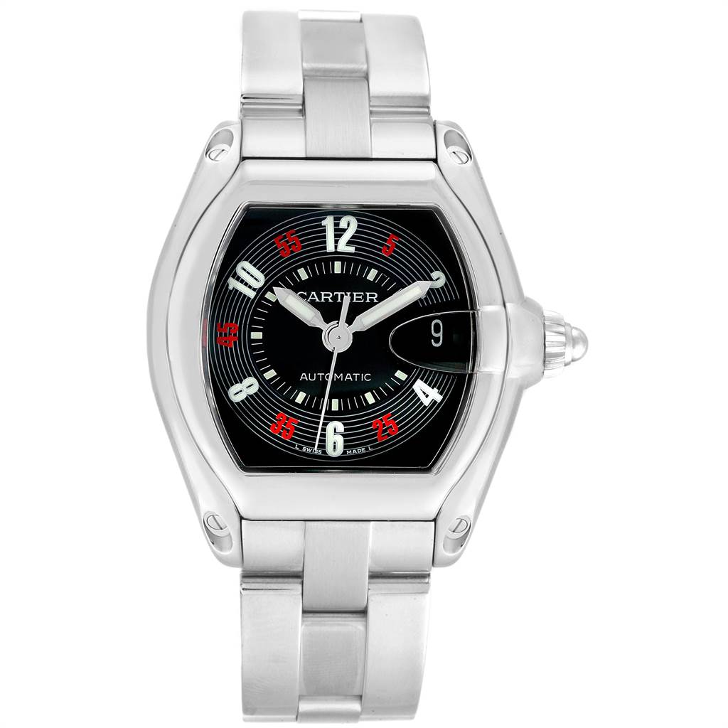 21534 Cartier Roadster Vegas Roulette Vegas Dial Mens Watch W62002V3 Box SwissWatchExpo