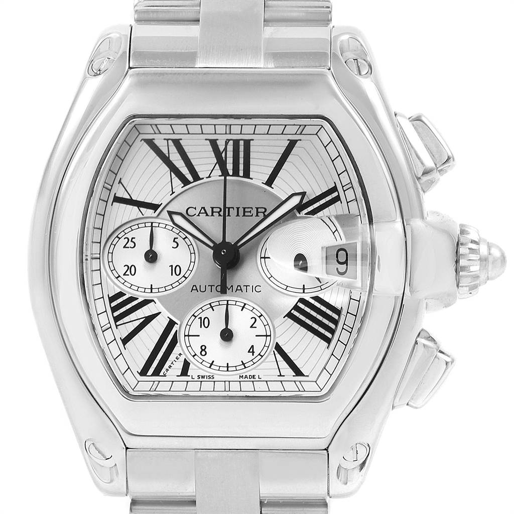 21855 Cartier Roadster XL Chronograph Automatic Mens Watch W62019X6 SwissWatchExpo
